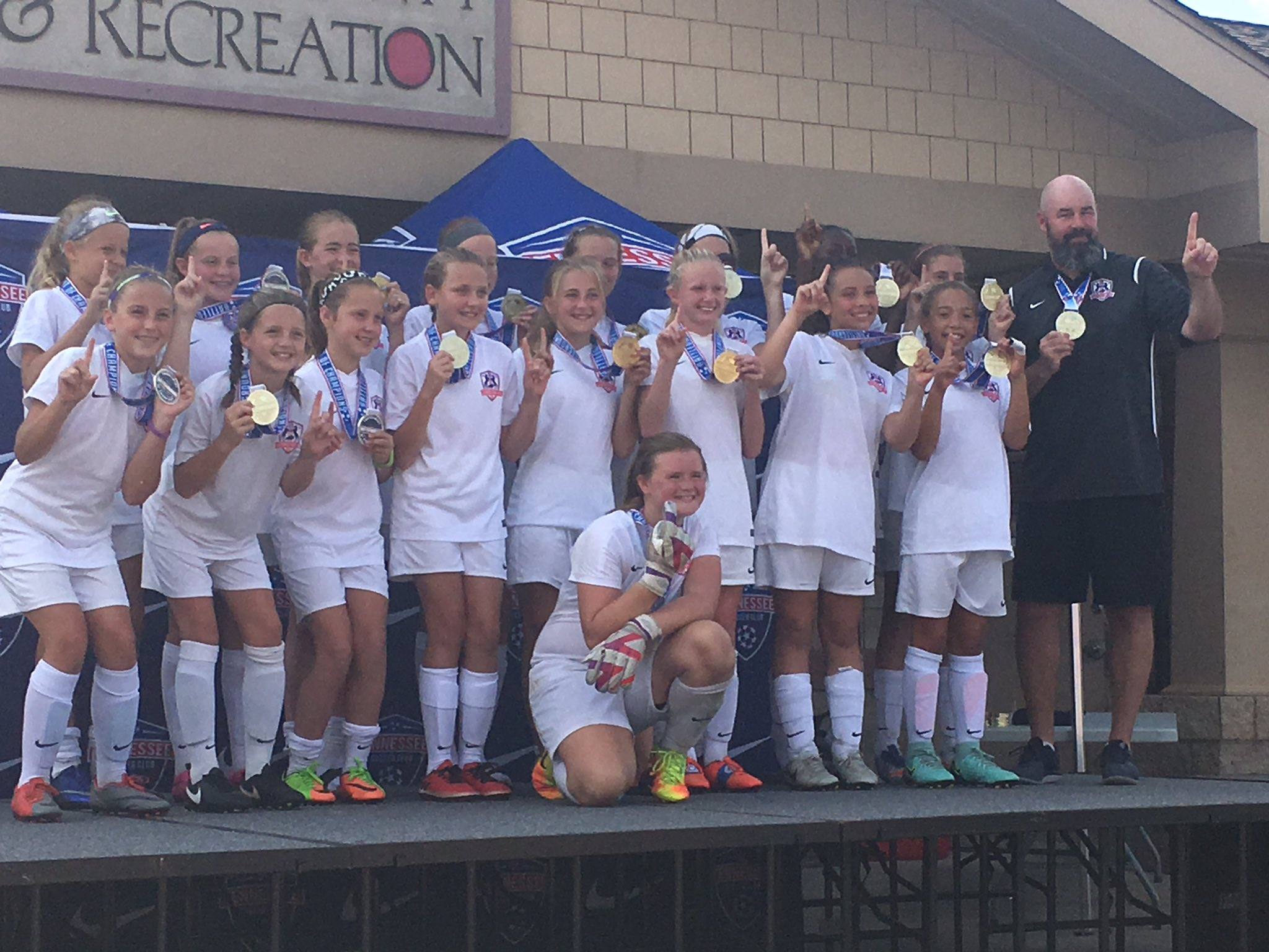 Lexington FC 2005 Girls Blue Win at Battleground!