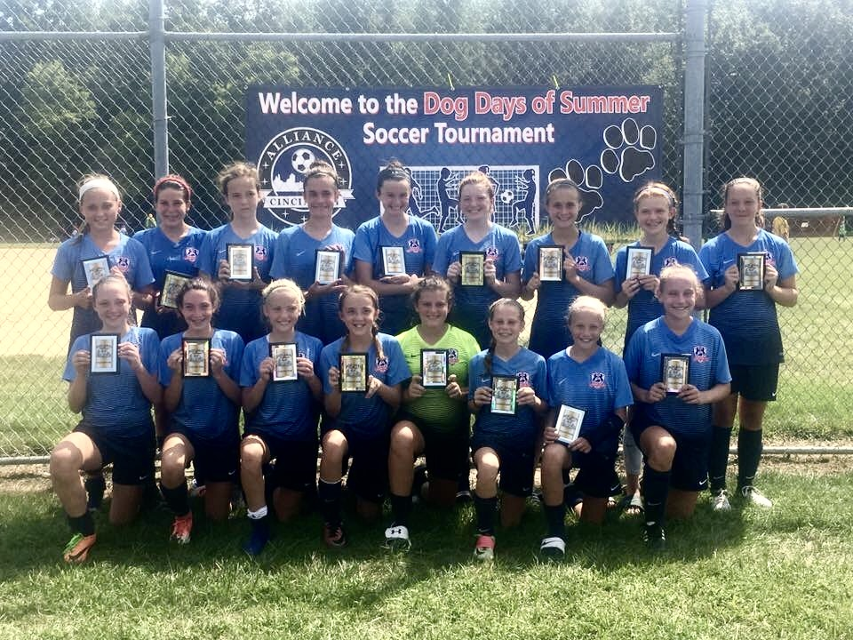 Lexington FC 2005 Girls White Win at Dog Days Tournament!