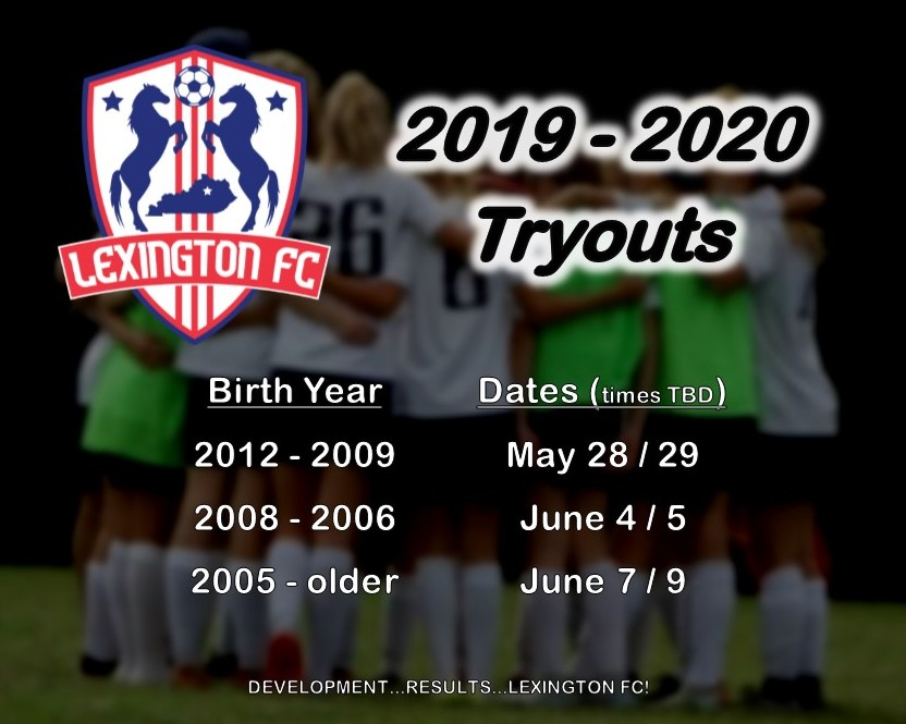 Tryout Dates Announced for 2019-2020 Season!